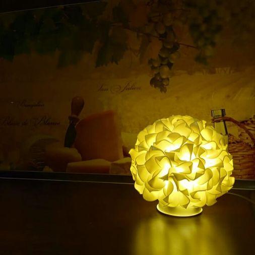 Светильник-ночник гортензия желтая