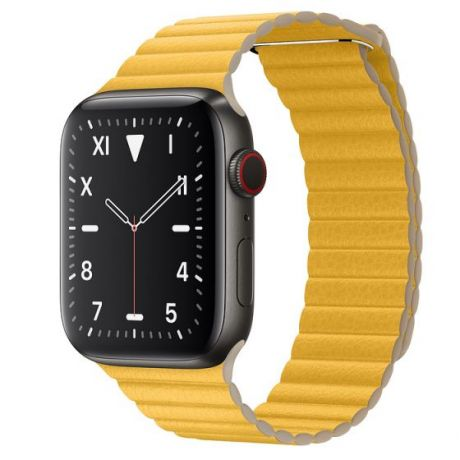 Apple Watch Edition Series 5 Space Black Titanium Case 44mm GPS + Cellular Meyer/Lemon with Leather Loop