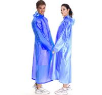 Виниловый плащ-дождевик для взрослых, цвет голубой