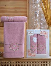Комплект из 2-х махровых полотенец  Flowers 50*90+70*140 Арт.554.06