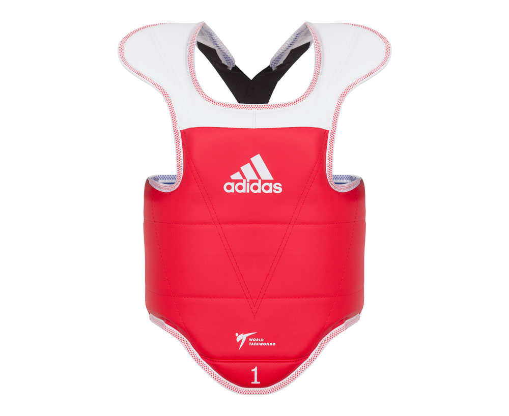 Защита корпуса Adidas двухсторонняя Adult Body Protector Reversible WT сине-красная, размер XXL,  артикул adiTAP01