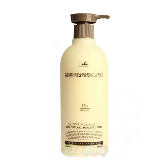 La'dor Увлажняющий бессиликоновый шампунь Moisture Balancing Shampoo, 530 мл
