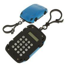 Брелок 8-разрядный калькулятор Машинка, Цвет: Синий