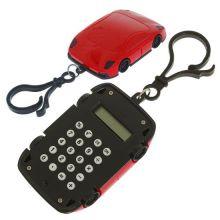 Брелок 8-разрядный калькулятор Машинка, Цвет: Красный