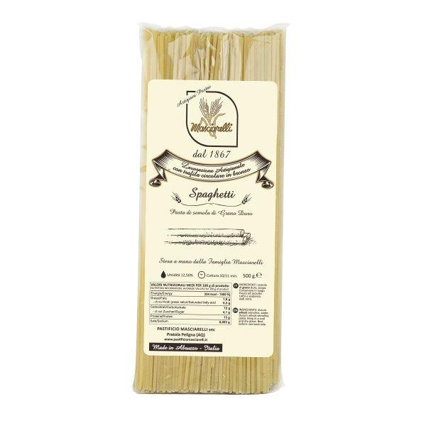 Паста Cпагетти Пастифичио Машиарелли 500 гр., Spaghetti Pastificio Masciarelli 500 gr