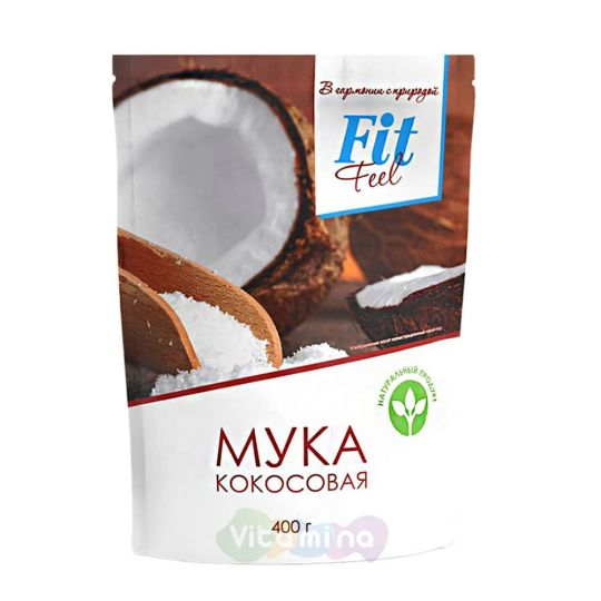 Fit Parad Мука кокосовая, 400 гр.