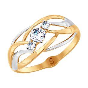 Кольцо из золота с фианитами 017927 SOKOLOV
