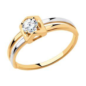 Кольцо из золота с фианитом 018355 SOKOLOV