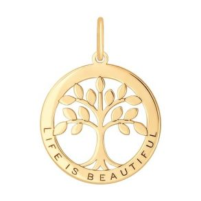 Подвеска «Дерево жизни» из золота 035031 SOKOLOV
