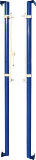 Стойки волейбольные ZSO универсальные пристенные с механизмом натяжения троса