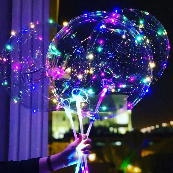 Светящийся Led шар BoBo, Набор из 3 круглых шариков и насоса
