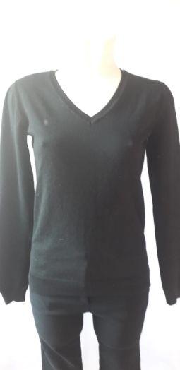 Пуловер женский, чёрный