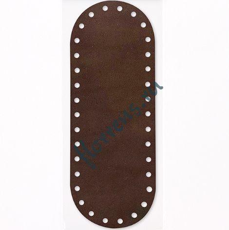 Кожаное дно для сумки / 26*9,5 см / т. шоколад