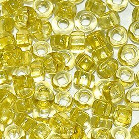 Бисер чешский 01151 салатово-желтый прозрачный кристальный Preciosa 1 сорт