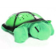 Ночник музыкальный проектор звездного неба Черепаха, Цвет: Зелёный