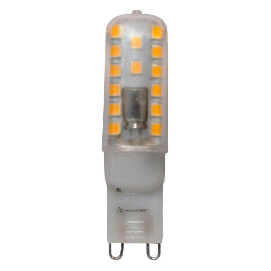 Лампа светодиодная Наносвет G9 2,8W 3000K прозрачная LC-JCD-2.8/G9/830 L226