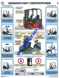 Безопасность работ с электропогрузчиком