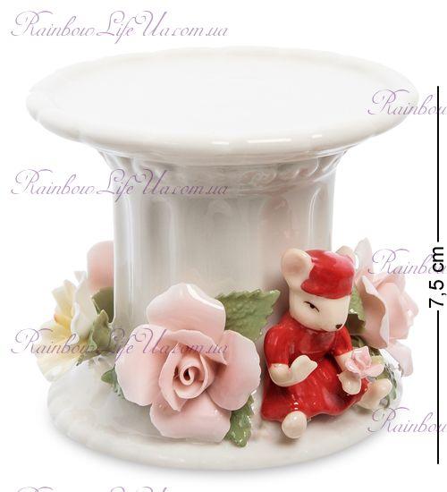 """Подсвечник мышка с цветами """"Pavone"""""""