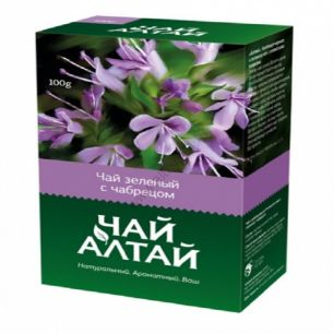 «Чай Алтай» зеленый с чабрецом, 100 гр