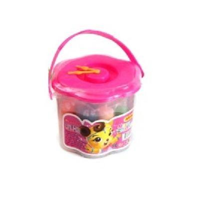 Набор массы для лепки Ведерко с часиками, 18 цветов, Цвет Ведерка-Розовый