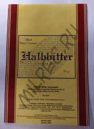 "Этикетка на немецкий шоколад ""Halbbitter"" (реплика)"
