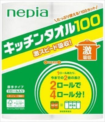 """Кухонные бумажные полотенца """"Nepia"""", 100 отрезков (2 рулона)"""