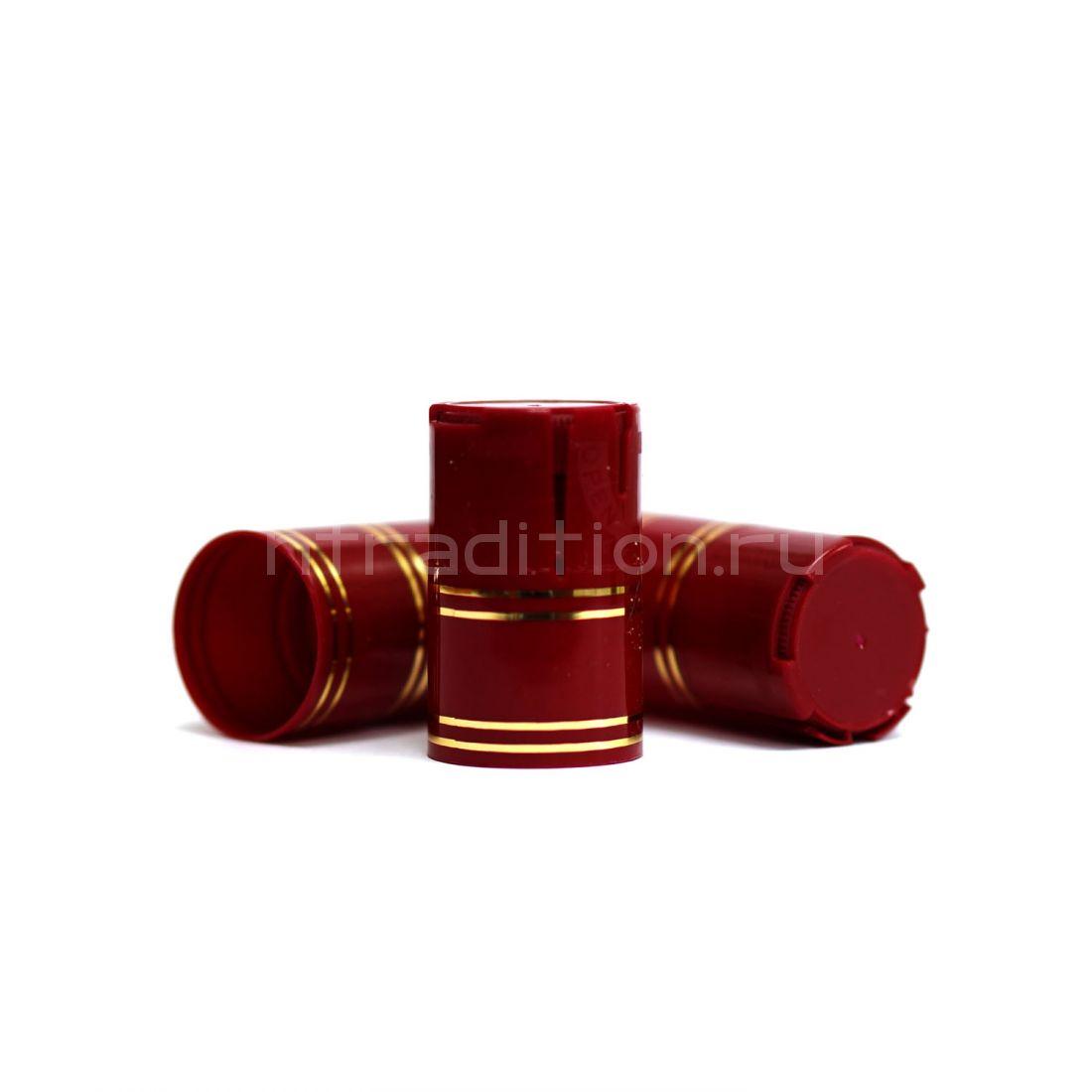 Пластиковый колпачок на бутылку винт 28*18 мм, 10 шт (бордовый)
