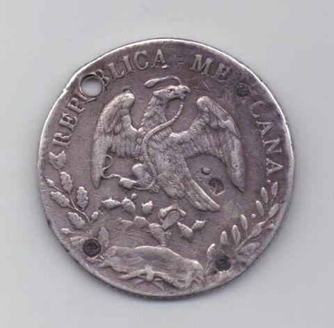 8 реалов 1887 года Чихуахуа Мексика