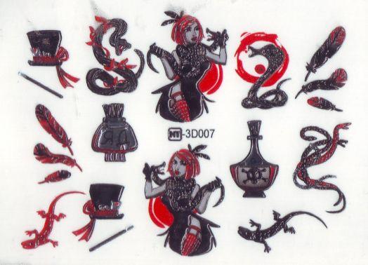 3D Слайдер-дизайн 3D 007 ведьма