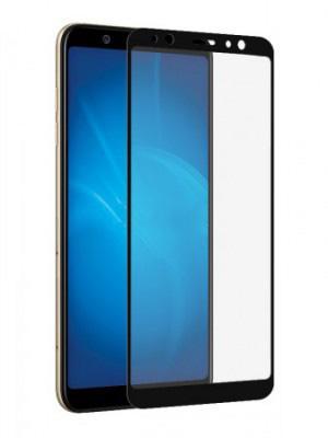 Защитное стекло противоударное PALMEXX для Samsung Galaxy A6 5D черное