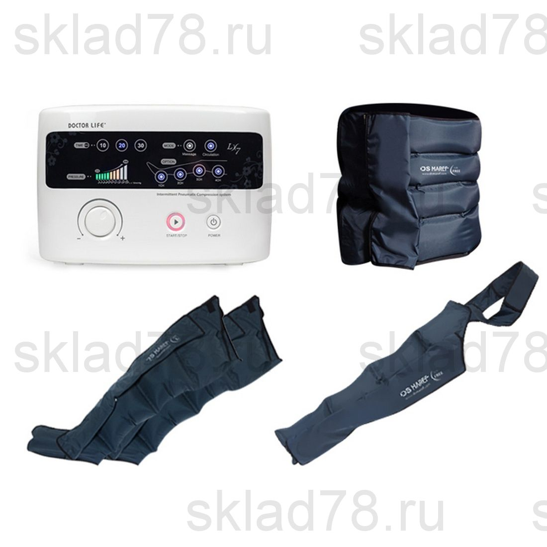 """Doctor Life LX-7 лимфодренажный аппарат """"Полный"""" комплект"""