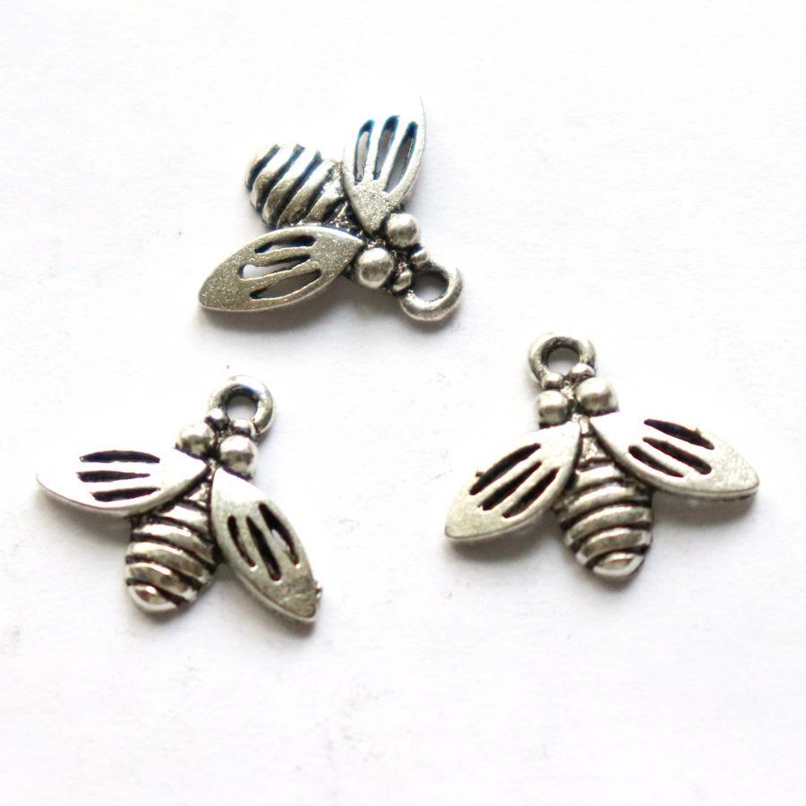 Подвески металлические, Пчелка, 13мм мм, тибет.серебро, 3 шт/упак