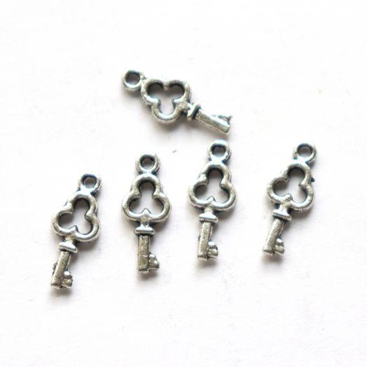Подвески металлические, Ключик, 12 мм, тибет.серебро, 5 шт/упак