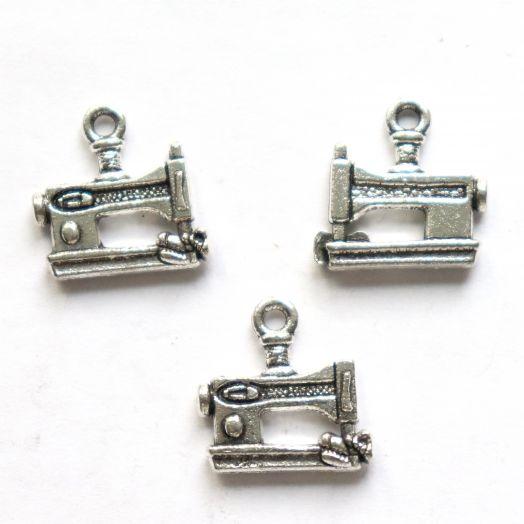 Подвески металлические, Швейная машинка, 14*8 мм, тибет.серебро, 5 шт/упак