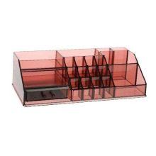 Акриловый органайзер для косметики Multi-Functional Storage Box QFY-3133, Бордовый