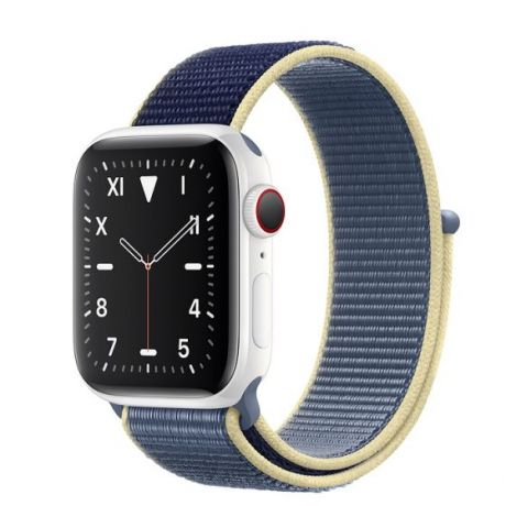 Apple Watch Edition Series 5 White Ceramic Case 44mm GPS + Cellular Alaskan/Blue with Sport Loop