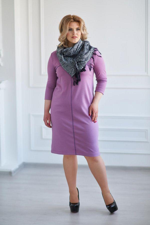 Платье арт.0121-26 сиреневое, милано
