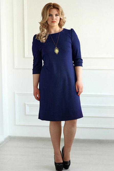 Платье арт.0119-09 темно-синее, милано