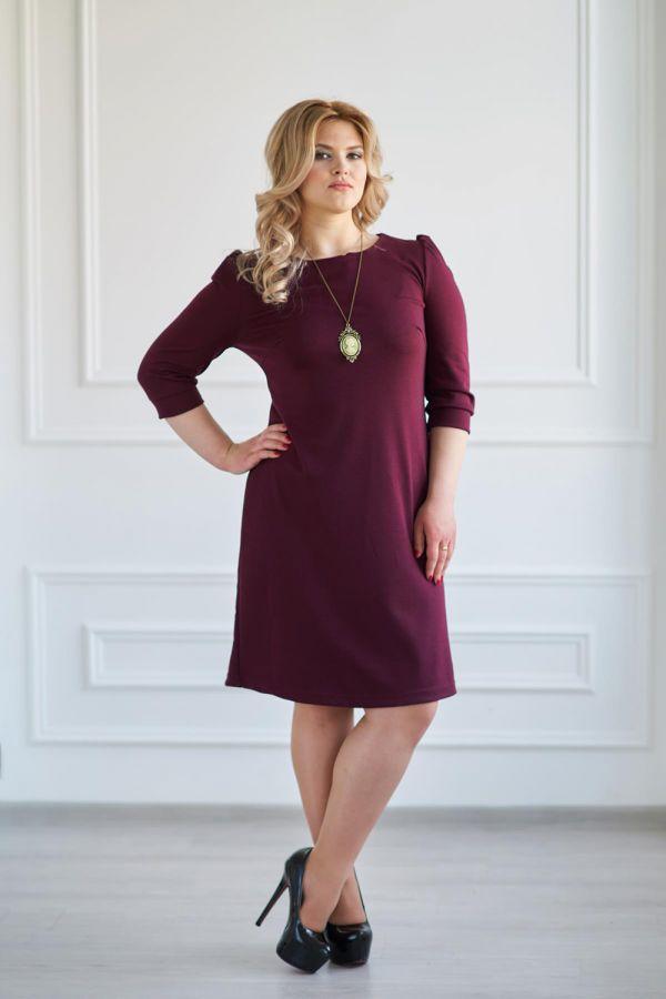 Платье арт.0119-12 бордовое, милано