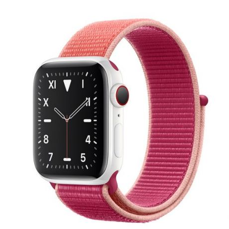 Apple Watch Edition Series 5 White Ceramic Case 44mm GPS + Cellular Pomegranate with Sport Loop