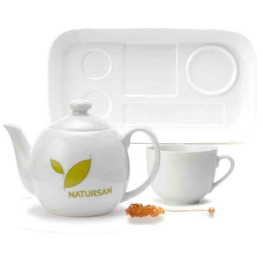 """LV35 Чайный фарфоровый поднос, Vassoio """"Tea for one"""""""