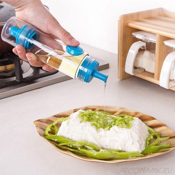 Двусторонняя бутылочка-распылитель для соуса и масла 2 WAY Soy sauce Bottle, Цвет: Синий