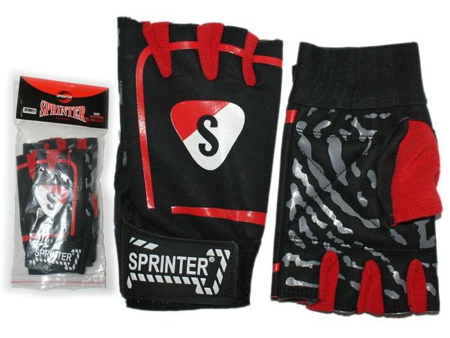Перчатки для тяжёлой атлетики с напульсником. Цвет: чёрно-красный. Материал: трикотажная ткань, искус. замша, липучка. Размер XXL. 12225