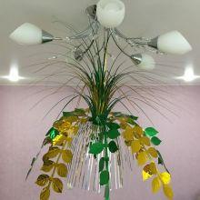 Подвесной фольгированный фонтан-каскад, 55 см, Листья