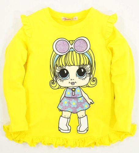 Желтый лонгслив для девочки 2-5 лет Bonito
