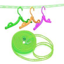 Веревка для сушки белья на плечиках, 5 м, Цвет: Салатовый