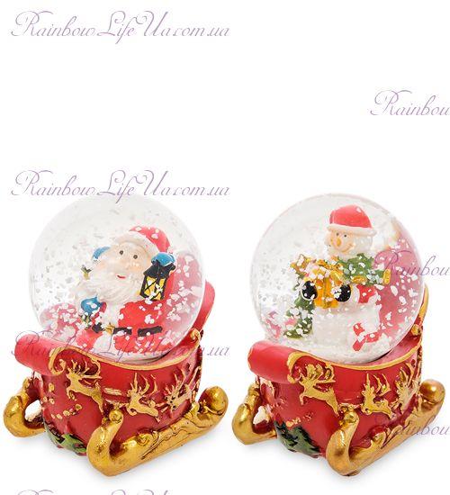 """Шар - сани со снегом """"Санта и снеговик"""""""