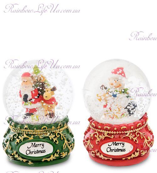 "Шар стеклянный со снегом ""Merry Christmas"""