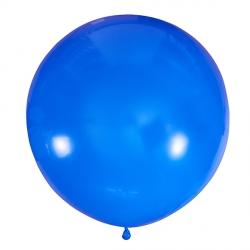 Синий полуметровый латексный шар с гелием