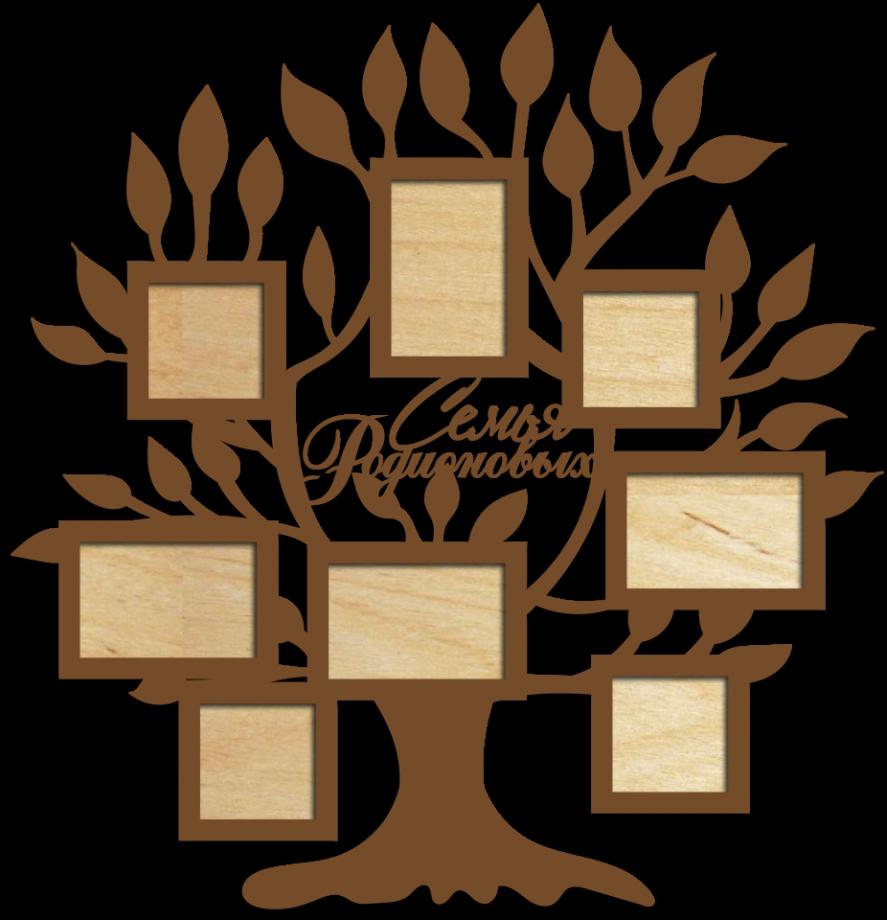 Семейное дерево с фоторамками 12